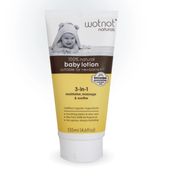 Wotnot 3 in 1 Organic Newborn Baby Lotion 135ml at Baby Barn Discounts Wotnot baby lotion approved for use with the most sensitive skin, including eczema, rosacea and psoriasis.