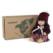 Miniland Doll Anatomically Correct Baby & Outfit Boxed 38 cm (UNDRESSED) - Asian Girl | Baby Barn Discounts Miniland Educational dolls set includes a naked doll and clothing set, wrapped in tissue and in a postable box.