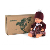 Miniland Doll Anatomically Correct Baby & Outfit Boxed 38 cm (UNDRESSED) - Caucasian Girl | Baby Barn Discounts Miniland Educational dolls set includes a naked doll and clothing set, wrapped in tissue and in a postable box.