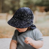 For the eagle-eyed star gazers, the Bedhead Legionnaire Flap Hat in Zodiac print is for you! Grey and blue constellations light up the night sky!