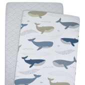 Lolli Living 2pk Bassinet Fitted Sheet Oceania Collection at Baby Barn Discounts Lolli Living oceania theme bassinet fitted sheets available in 2 pack.