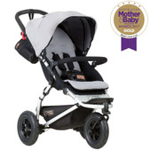Mountain Buggy Swift v3.2 Silver at Baby Barn Discounts Mountain Buggy Swift ultra-compact fold and air-filled wheels make the ideal all terrain.