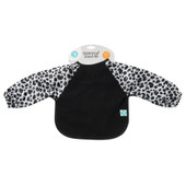 All4Ella Waterproof Long Sleeve Bib LEOPARD BLACK at Baby Barn Discounts All4Ella gorgeous bibs are not only functional but fashionable and have an adjustable neck