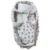 Handmade Doll Soft Bassinet with Carry Handles and Bedding