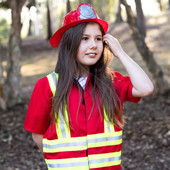 Kiddie Connect Kids Firefighter Costume at Baby Barn Discounts Exciting bright coloured firefighter costume perfect for kiddie 3-5 years.