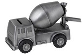 Russell Collection Cement Truck Money Box Pewter Finish at Baby Barn Discounts This beautiful cement truck Money Box  with moveable wheels comes in a gorgeous pewter finish.