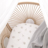 Living Textiles Organic Cotton Muslin Bassinet Fitted Sheets 2pk at Baby Barn Discounts