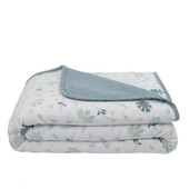 Living Textiles Organic Cotton Muslin Pram Blanket at Baby Barn Discounts Living Textile's organic muslin blanket is crafted from 6 layers of soft and silky 100% organic cotton muslin.