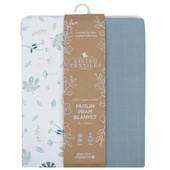Living Textiles Organic Cotton Muslin Pram Blanket at Baby Barn Discounts