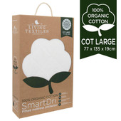 Living Textiles Smart Dri Organic Cotton Mattress Protectors at Baby Barn Discounts Living Textile's organic cotton waterproof mattress protector to fit any occasion.