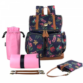 OiOi Floral Botanical Backpack at Baby Barn Discounts OiOi  Nappy Backpack is a stylish and easy way to carry all your baby's needs.