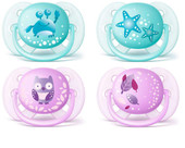 Avent Ultra Soft Soother (prints) 0-6m 2pk at Baby Barn Discounts Avent's super soft, flexible shield follows the shape of your baby's cheeks, leaving fewer marks and causing less skin irritation your baby's delicate skin.