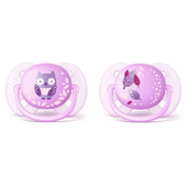 Avent Ultra Soft Soother (prints) 0-6m 2pk at Baby Barn Discounts Avent's super soft, flexible shield follws the shape of newborn cheeks.