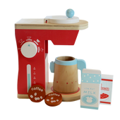 Discoveroo Wooden Coffee Machine at Baby Barn Discounts Discoveroo capsule style wooden Coffee Machine is a 6 piece set.