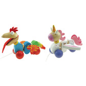 ToysLink Wooden Pull Along Dragon or Unicorn Toy at Baby Barn Discounts ToysLink wooden pull along animal is the perfect gift for the walking toddlers!