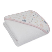 Living Textiles Organic Muslin Hooded Towel at Baby Barn Discounts Created from soft and absorbent 100% organic cotton towelling.