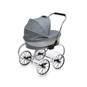 Valco Baby Princess Doll Stroller GREY MARLE at Baby Barn Discounts Valco Baby Just Like Mum range mini princess doll stroller is a gorgeous dolls pram for those who like to push in style!