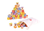 Tooky Toy Wooden Alphabet Block 50pcs at Baby Barn Discounts Tooky toy 50 piece Alphabet Block set comes complete with drawstring storage bag