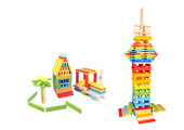 Tooky Toy Wooden City Block 150 pcs | Baby Barn Discounts Tooky Toy 150 colour wooden pieces in this box.