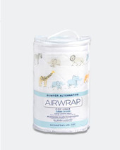 Airwrap Cot Liner Muslin 4 Sides Safari at Baby Barn Discounts Airwrap adjustable 4pcs construction fits most rectangular cots with rails/slats on up to 4 sides and is machine washable.