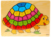 Lucky Tree- Wooden Puzzle- Tortoise at Baby Barn Discounts A brightly coloured tortoise puzzle. Made from wood and decorated with the lowercase alphabet and numbers 1-9
