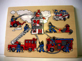 Lucky Tree- Wooden Puzzle- Fire Fighters at Baby Barn Discounts A wooden puzzle featuring fire fighters and police. A fun and engaging way to teach fire safety to little ones.