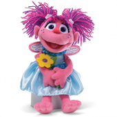 Sesame Street Abby Cadabby Holding Flower 28cm at Baby Barn Discounts Wearing a silky light blue dress and holding a yellow flower,  Abby is a delightful companion for little ones to love!
