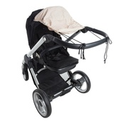 Playette Stroller Sunshade- Beige at Baby Barn Discounts A versatile stroller sunshade that will fit almost any stroller. Protect baby from sun and UV rays with a UPF50+ rating.