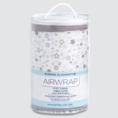 Airwrap Cot Liner Muslin 4 Side Starry Night Grey at Baby Barn Discounts Airwrap adjustable 4pcs construction fits most rectangular cots with rails/slats on up to 4 sides and is machine washable.