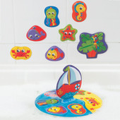 Playgro Floaty Boat Bath Puzzle at Baby Barn Discounts Playgro floaty boat puzzle create fun beach scenes in the tub.