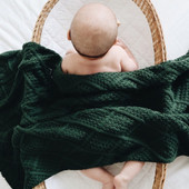 Snuggly Jacks Organic Knitted Blanket | Baby Barn Discounts Snuggly Jacks diamond knitted blankets are the perfect gift for any new mum.