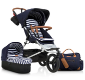 Mountain Buggy Urban Jungle Luxury Edition Nautical with Carrycot Package Deal   Baby Barn Discounts Mountain Buggy pram package deal now with carrycot plus & matching nappy bag.