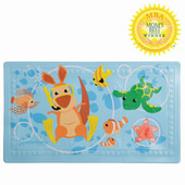"""Dreambaby Anti-slip Bath Mat F679 at Baby Barn Discounts Dreambaby® Watch-Your-Step® Anti-Slip Bath Mat with """"Too Hot"""" Indicator is a fun way to add safety to the bathroom."""