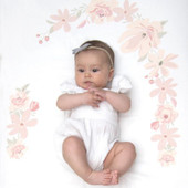 Lolli Living Cot Fitted Sheet - Floral Bouquet at Baby Barn Discounts Beautifully design spring theme cotton cot fitted sheet, soft for babies to lay on.
