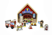 Kaper Kidz Metal Latch Playset Fire Station at Baby Barn Discounts Unlock the metal latch and this set becomes an instant fire station play set.