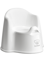 Baby Bjorn Potty Chair WHITE at Baby Barn Discounts Baby Bjorn potty chair is designed with high backrest and comfortable armrests.
