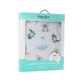 Bubba Blue Aussie Animal Bassinet Jersey Fitted Sheet at Baby Barn Discounts This gorgeous Bassinet Jersey Fitted Sheet from the Bubba Blue Aussie Animals collection features a fun all over animal character print with six of your favourite animals.