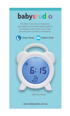 Babystudio Sleep Trainer Toddler Clock at Baby Barn Discounts Finally a solution to getting your toddler on a new sleep schedule. A teaching aid to support toddlers wake/sleep pattern, more sleep for little ones means more sleep for the whole family!