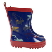 Korango Rainwear Gumboot - Construction at Baby Barn Discounts Perfect for outings on wet and rainy days. These waterproof and durable gumboots are fantastic addition to any rainy day outfit.