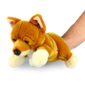 Korimco Wildlife Body Puppet 32cm DINGO at Baby Barn Discounts Soft full body wildlife animal hand puppet fits both adults and children's hands.