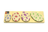 Kaper Kidz Wooden Dinosaur Egg Puzzle with Fact Check at Baby Barn Discounts Kaper Kidz Dino puzzle features 4 different sized eggs which reveal fun facts underneath each dinosaur.