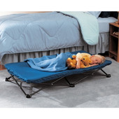 The Regalo My Cot Portable Toddler Bed is for sleepovers, outings, travelling, camping, day care or lounging around the house.