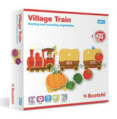 Scotchi Village Train at Baby Barn Discounts A beautiful sorting and counting game by Scotchi. Fill up your carriages with lots of delicious veggies, attach them to the train engine and off you go!