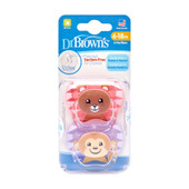 Dr Brown's Prevent Printed Shield Soother 6-18m 2pk at Baby Barn Discounts Dr Brown's prevent orthodontic shape designed by a pediatric dentist with its suction-free air channel helping reduce suction and palatal pressure.