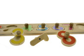 Kaper Kidz Wooden Number Puzzle with Peg at Baby Barn Discounts Kaper Kidz wooden number 1-10 puzzle with easy handle knob.