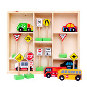 Fun Factory Wooden Cars & Traffic Signs Set at Baby Barn Discounts Colourful wooden cars & Australian traffic sign set comes perfectly displayed in a storage box.