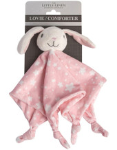 The Little Linen Lovie Comforter at Baby Barn Discounts Little Linen Lovie comforter soft fleecy friend is the perfect cuddle companion for all your adventures out and about.