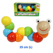 Fun Factory Giant Wooden Worm at Baby Barn Discounts This rainbow worm has 11 joints to twist and turn, the perfect wooden toy for little ones developing their coordination and motor skills.