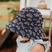 Bedhead Legionnaire Flap Hat - Rainbow at Baby Barn Discounts Brighten up your day with this subtle rainbow pattern. The beautiful colourful motif of a rainbow on a neutral navy background a classic style without being overwhelmingly bright.