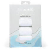 Little Bamboo Toweling Wash Cloths 3 Pack